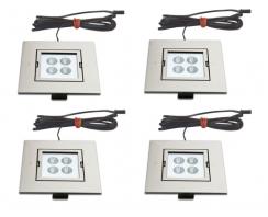 4 x Hera ARF-Q LED 4W zestaw oświetlenia punktowego Power LED