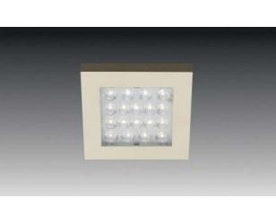 Zestaw 4x oprawa oświetleniowa EQ-LED 1,2W ciepła-biała aluminium z transformatorem - PROMOCJA